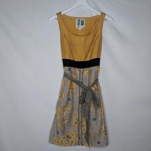 Anthro Edeme & Esyllte Boho Floral Tie Front Dress